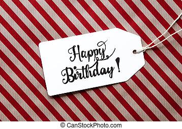 包むこと, birthday, 幸せ, ラベル, 赤, ペーパー