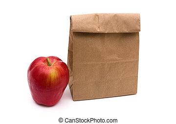 包装紙 袋, 昼食