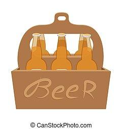 包装, ビール, 漫画, アイコン