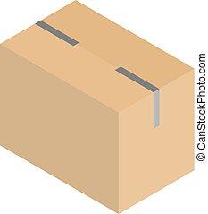 包装, 箱, carboard, ベクトル