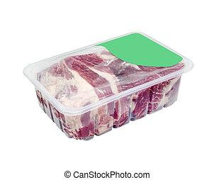 包装, 肉, 回路, 真空