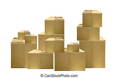 包裝, 箱子