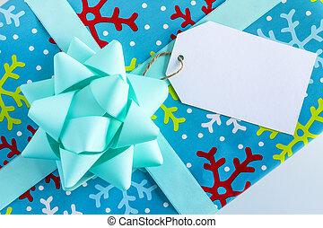 包裹, 聖誕節禮物, 由于, 標簽