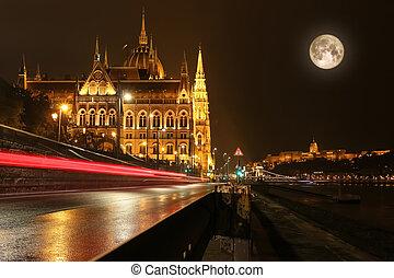 匈牙利人, 議會建築物, 在, 布達佩斯