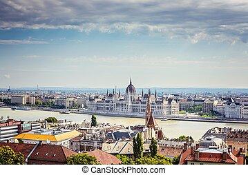 匈牙利人, 議會, 在, budapest.