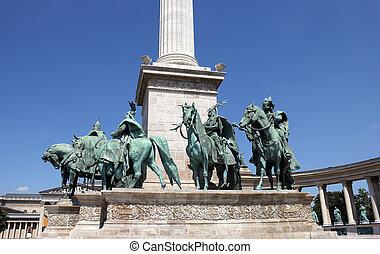 匈牙利, 布達佩斯, 廣場,  heroes'