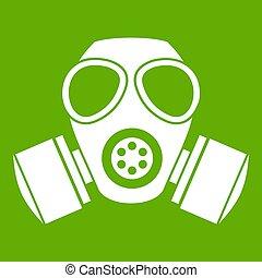 化学物質, ガスマスク, 緑, アイコン