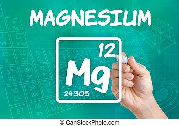 化学物質, シンボル, マグネシウム, 要素