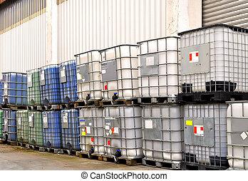 化学物質, 容器