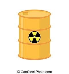化学物質, 屑, 放射性, ごみ, 液体, 危険, 有害, keg., pollution., 黄色, emissions., 環境, 生態学的, cask., 有毒廃棄物, barrel., 災害