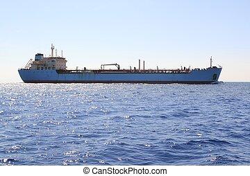 化学物質, 輸送, ボート, 沖合いに, 航海, タンカー