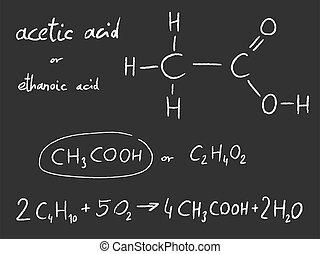 化学物質, 酸, -, acetic