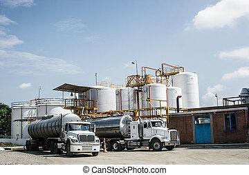 化学蓄熱タンク, そして, タンカー トラック