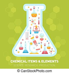 化学, 構成, infographics