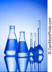 化學制品, 管道, 在, 坡度, 背景