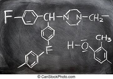 化學制品, 結构, 上, a, 黑板