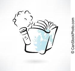 化學, 書, grunge, 圖象