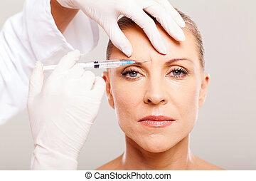 化粧品の 外科医, 寄付, 顔, 持ち上がること, 注入
