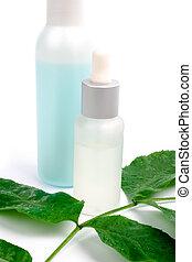 化粧品, ∥で∥, 緑の葉