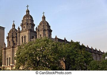 北京, 教会, 陶磁器, st. 。, wangfujing, バシリカ, ヨセフ, 大聖堂