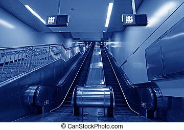 北京, 駅, エスカレーター, 地下鉄