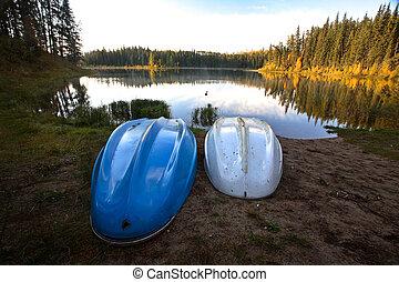 北方, 划艇, 玉, 湖, 二, saskatchewan