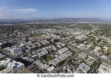 北方, 加利福尼亞, 好萊塢, 空中, 看法