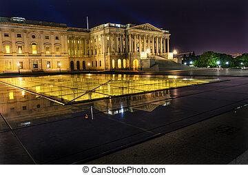 北方, 州議會大廈, 參議院, 華盛頓特區, 我們, 邊, 反映