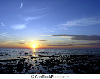 北方, sunset.