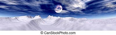 北極である, 月