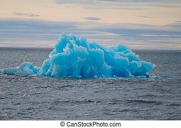 北極, iceberg., 區域, novaya, zemlya