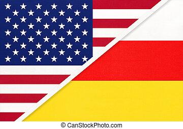 北, アメリカ, ∥間に∥, countries., 2, textile., 関係, アジア人, ossetia, ∥対∥, アメリカの旗, 国民