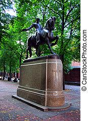 北, ボストン, ポールを 尊敬しなさい, 像, 端