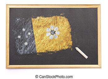 北, 黒板, 国旗, 引かれる, 領土, on.(series)