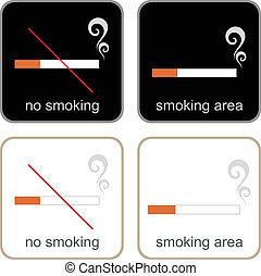 &, 区域, いいえ, -, サイン, 喫煙