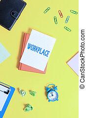 区域, どこ(で・に)か, テキスト, 概念, スペース, ∥(彼・それ)ら∥, ファインド, 空, 提示, 仕事, 写真, テーブル。, ペーパー, コピー, あなた, workplace., 缶, 印, 忙しい, オーダー, 山