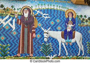 区域, エジプト, カイロ, 教会, coptic, 浮く