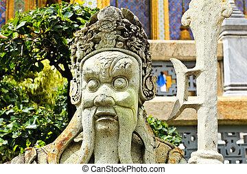区域, バンコク, 少佐, (yak), kaew, 宮殿, 保護者, phra, 魅力, 1(人・つ), 像, 壮大, タイ, ワット, 観光事業, 寺院