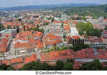 区域, 中心, 大学, -, スロベニア, ljubljana