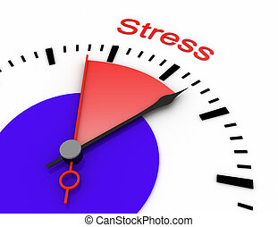 区域, 钟手, burnout, 红, 秒, 描述, stress., 提供, 3d