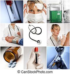 医学のコラージュ