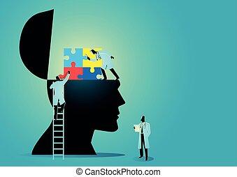 医学, グラフィック, autism, シンドローム