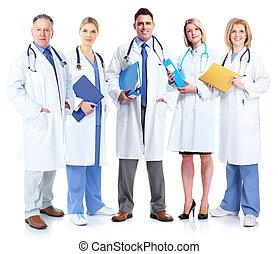 医学, グループ, 医者。