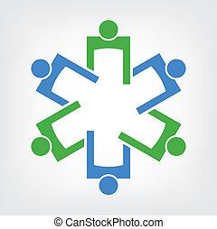 医学, ロゴ, チームワーク