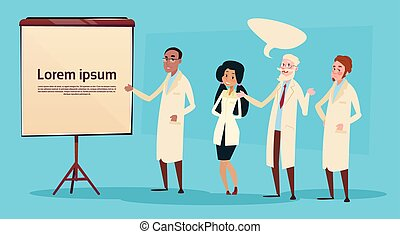 医学, 人々, レース, 混合, 医者, グループ, インターン, 勉強しなさい, 講義, チーム