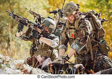 医学, 兵士, 供給する, 兵士, けが人, アフガニスタン, 心配