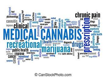 医学, 単語, 雲, インド大麻