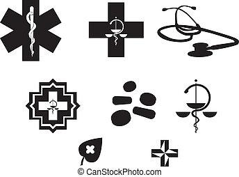 医学, 原料, 黒, 白