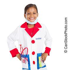 医学, 女の子, 医者