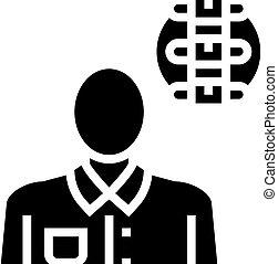 医学, 専門家, アイコン, rheumatology, ベクトル, イラスト, glyph